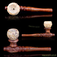 Rosewood Smoking Pipe with Cooling Soapstone Bowl