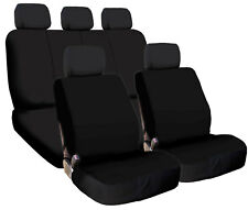 New Black Color Flat Cloth Universal Fit Car Seat Covers Set Support Split Seat
