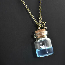 Novel Sea Ocean Glass Wishing Bottle Pendant Boat Rudder Necklace Jewelry Hot