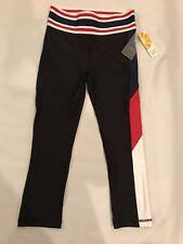 C&C California Leggings Womens XS Black Red Retro Look Quick Dry Stretch NWT $68