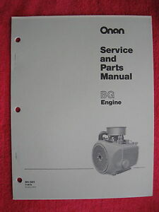 ONAN BG ENGINE SERVICE & PARTS MANUAL