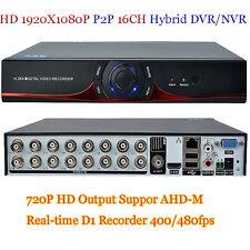P2P 16CH HDMI 1920x1080P Output D1 Hybrid Real-time Digital HVR/NVR/DVR 720p HD