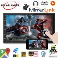 7''2 Din GPS Android Car Radio Airplay+Camera Wifi Touch FM BT iOS Mirror Link