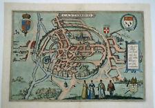 Antique map of Kent - Canterbury by Braun & Hogenberg C1588 England Cantvarbvry