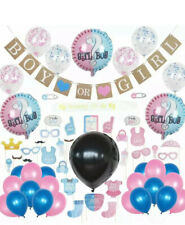 Baby Gender Reveal Party Supplies Decorations - Balloons Sash Games Confetti