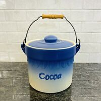 Cocoa Ceramic Hot Chocolate Bar Canister With Lid And Handle