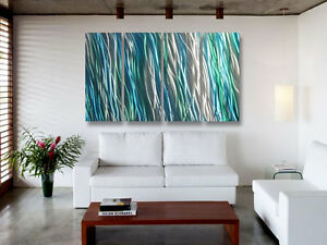 """Abstract Metal Wall Art- Contemporary Modern Decor - Amazon 36"""" by Miles Shay"""