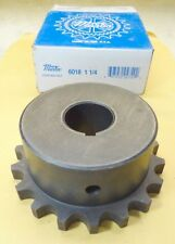 """MARTIN 6018 1 1/4 Finished Bore Roller Chain Coupling Hub 18 Teeth 1 1/4"""" Bore"""