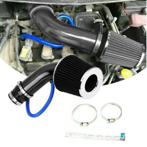 Alumimum Car Cold Air Intake Filter Induction Universal Pipe Hose System Black