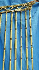 Beaded Curtain Room Divider Wood Beads Hippie Bamboo Retro Macrame Mid Century