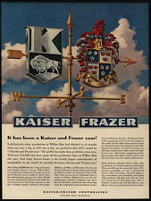 1947 KAISER-FRAZER Weather Vain Art - Car Logo - VINTAGE AD