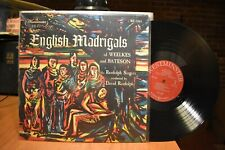 Randolph English Madrigals of Weelkes and Bateson LP Westminster WL 5361 MN