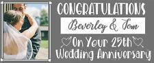 Silver Wedding Anniversary Personalised Banner Decorations 25th Love Couple
