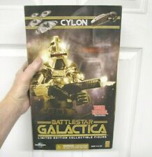 "Battlestar Galactica Gold Cylon Commander 12"" Figure Sealed Majestic Studios"
