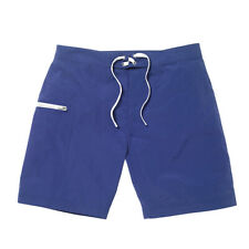 Frescobol Carioca Tailored Surf Shorts, SIZE 30 -  Navy Blue