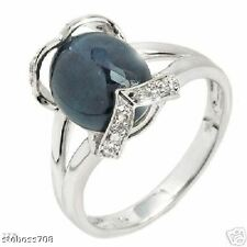 14K GOLD Ring 6.08ctw Diamonds Sapphires Compare: $1799