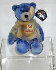 "MWT SHANNON SHARPE #84 DENVER BRONCOS PRO 9"" Teddy Bear in Acrylic Display Box"