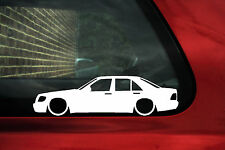 2x Lowered car stickers - for Mercedes W140 S-Class , S 320 / S 600 / S 500