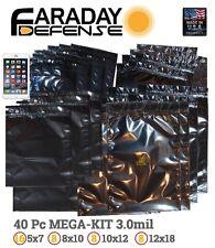 Faraday Cage ESD EMP Bags 40pc BULK LOT XXL Mega Laptop Preppers/Survivalists