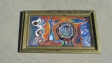 ISHMAEL THYSSEN ORIGINAL WOOD CARVED PAINTING AFRICAN FOLK ART