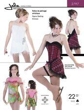 Jalie Sweetheart Neck Figure Skating Dancing Dress Costume Sewing Pattern 2797