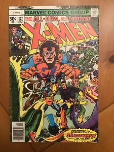 X-Men #107 MARVEL 1977 1st full Starjammers and Gladiator