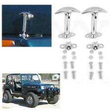Fit 42-95 Jeep Wrangler Chrome B5129100 Bestop Replacement Hood Latch Straight