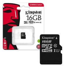 16GB Kingston Canvas Select Micro SD SDHC Memory Card 80MB/s UHS-1 Class 10 16GB