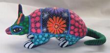 Ceramic Clay Armadillo Figurine Hand-painted Mexican Folk Art Neat Gift Idea A13