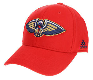 Adidas NBA Men's New Orleans Pelicans Structured Flex Hat, Red