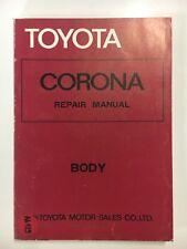 Toyota Corona Repair Manual - Body