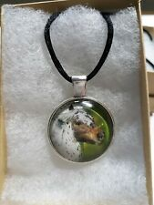Horse Cabochon Necklace, Pony, Animal , Glass Dome Pendant, Jewelry, Handmade