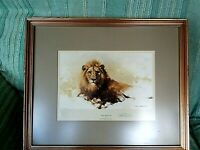 LION SKETCH BY DAVID SHEPHERD SIGNED LIMITED EDITION 172/850 GALLERY STAMP