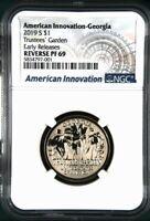 2019 S REVERSE PROOF American Innovation Dollar Georgia - NGC PF69 ER