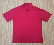 Tiger Woods Collection Nike FitDry Golf Polo Shirt ~ Men's Medium M ~ SS Red