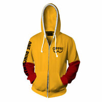 HOT Anime One Punch Man Saitama Oppai Hoodie Hooded Sweater Cosplay Fleeces Coat
