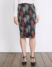 Boden Printed Richmond Lined Party Skirt Size 16 L NEW RRP £70 Ink Pot Wisteria