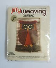 Jiffy Weaving Hoot Owl Sunset Designs Kit 1977 #3411
