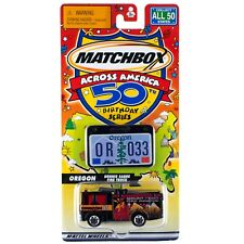Matchbox Across America OR Oregon Dennis Sabre Fire Truck #33 50th Birthday