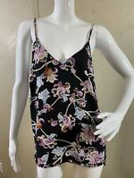 Catherine Malandrino Reversible Sleeveless Blouse Floral Women's Size S
