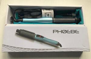 PHOEBE Curling Iron Brush 1 Inch Dual Voltage Ceramic Tourmaline Ionic Brush NIB