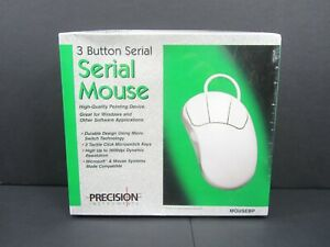 Vintage Precision Instruments 3-Button Serial Mouse New In Box Sealed Mousebp