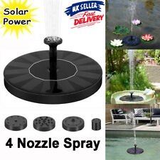 Solar Panel Powered Water Floating Pump Garden Pool Decor Pond Fountain Aquarium