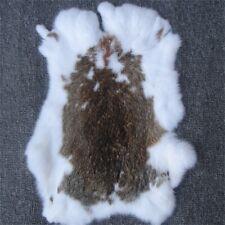 2piece 100% Natural Rabbit Crafts Arts Real Rabbit Leather Hides Fur Pelts Decor