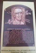 jeff bagwell hall of fame postcard 2017 mlb hof baseball cancel stamp induction