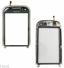 Genuine Nokia C7-00 C7 Touch Screen Digitizer Lens Glass Front With Frame Silver