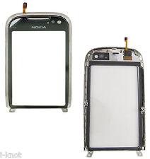 Véritable Nokia C7-00 C7 lentille numériseur écran tactile avant en verre avec cadre argent
