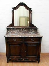 STUNNING ANTIQUE FRENCH MARBLE TOP DRESSING TABLE - C1920