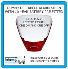 Dummy Alarm Siren -Deltabell-Twin Flash RED LEDs 10yr Batt Fitted - BLANK COVER