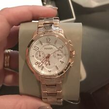 New Fossil ES4035 Ladies Gwynn Rose Gold Stainless Ladies Chronograph Watch